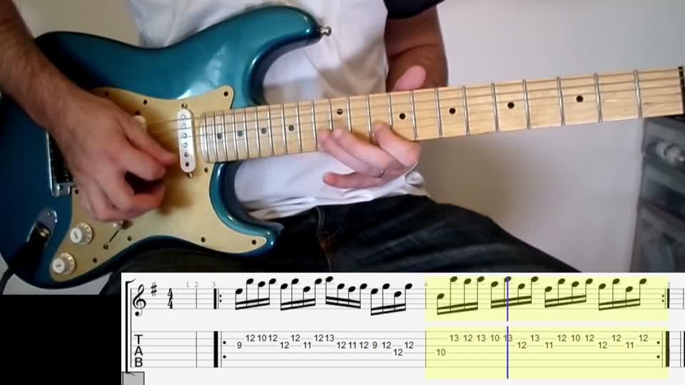 Guitar Tab Tutoriallesson David Guetta Dangerous Monster Riff Hd